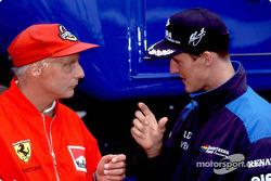 Michael Schumacher, Benetton, mit Niki Lauda