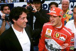 Michael Schumacher con Sylvester Stallone