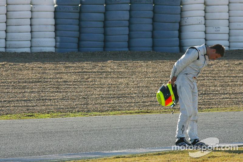 Ralf Schumacher, su test con el Force India acabó antes de tiempo (2007)