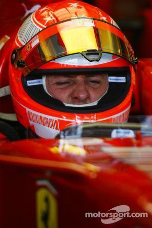 Michael Schumacher, Test Driver, Scuderia Ferrari, yawning