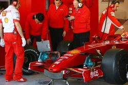 Michael Schumacher, Test Driver, Scuderia Ferrari, with Slick tyres