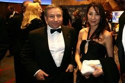 Jean Todt and wife Michelle enjoy the VIP reception