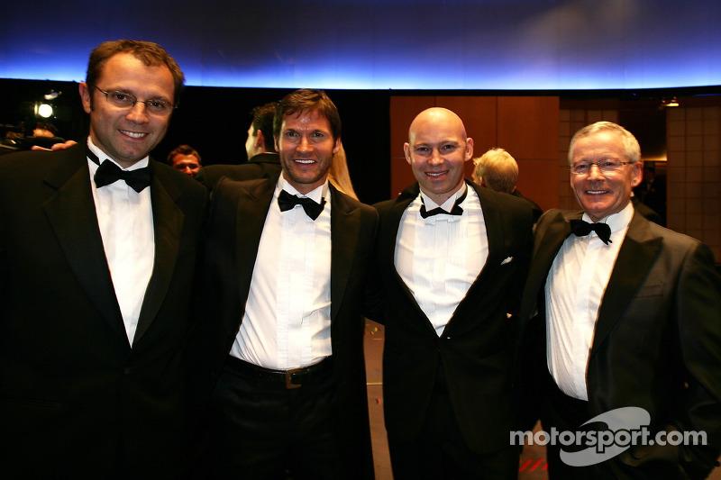Stefano Domenicalli, David Robertson, Mark Arnall and Steve Robertson