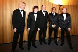 Max Mosley, Fernando Alonso, His Serene Highness Prince Albert of Monaco, Lewis Hamilton and Kimi Raikkonen