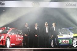 The Citroën C4 WRC, Daniel Elena, Sébastien Loeb, Malcolm Wilson, Jost Capito and the Ford Focus RS WRC