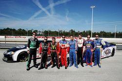 NASCAR Busch Series top 10 drivers Carl Edwards, Jason Leffler, Bobby Hamilton Jr., Greg Biffle, Stephen Leicht, David Ragan, Marcos Ambrose and David Reutimann took media members for rides around the Walt Disney World Speedway