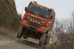Team de Rooy presentation: Gerard de Rooy, Tom Colsoul and Arno Slaats present the GINAF X2223 rally truck