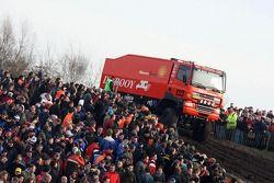 Team de Rooy pre-prologue in Valkenswaard: Gerard de Rooy, Tom Colsoul and Arno Slaats