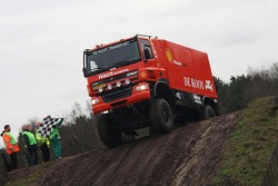 Team de Rooy pre-prologue in Valkenswaard: Hugo Duisters, Yvo Geusens and Michel Huisman