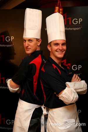 Dim Sum Making event: Charlie Kimball, driver of A1 Team USA and Jonathan Summerton, driver of A1 Te