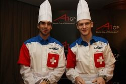 Dim Sum Making event: Neel Jani, driver of A1 Team Switzerland and Alexandre Imperatori, driver of A