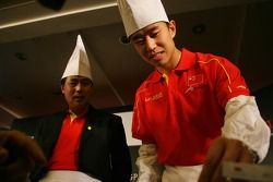 Dim Sum Making event: Congfu Cheng, driver of A1 Team China