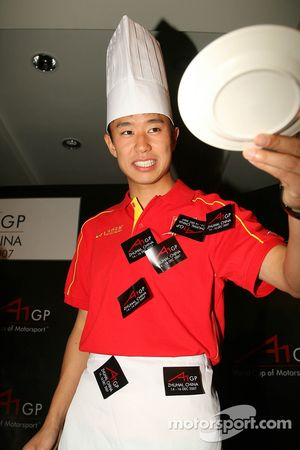 Dim Sum Making event: Congfu Cheng, driver of A1 Team China wins the event