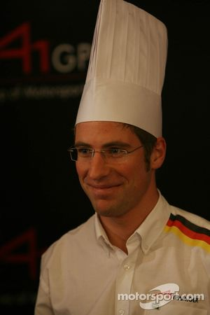 Dim Sum Making event: Michael Ammermuller, driver of A1 Team Germany