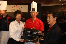 Dim Sum Making event: Congfu Cheng, driver of A1 Team China wins the event Dim Sum Making