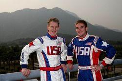 Charlie Kimball, driver of A1 Team USA and Jonathan Summerton, driver of A1 Team USA