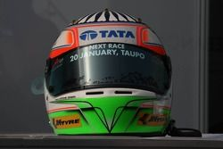 Narain Karthikeyan, driver of A1 Team India helmet
