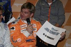 Henning Solberg dibuja a Michael Schumacher