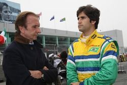 Emerson Fittipaldi, Seat Holder of A1 Team Brazil and Sergio Jimenez, driver of A1 Team Brazil