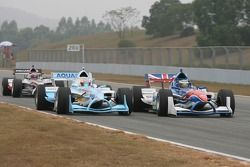 Narain Karthikeyan, driver of A1 Team India and Oliver Jarvis, driver of A1 Team Great Britain