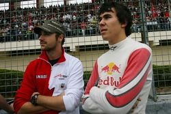 James Hinchcliffe, driver of A1 Team Canada and Robert Wickens, driver of A1 Team Canada
