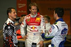 Michael Schumacher, Mattias Ekström y Jimmie Johnson
