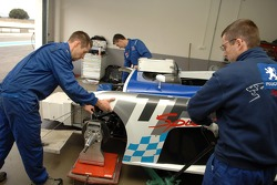 Peugeot team members at work