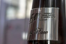 Trofeo para el ganador del primer lugar del Gran Premio de México