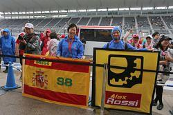 Roberto Merhi, Manor Marussia F1 Team y Alexander Rossi, los aficionados del equipo Marussia Manor F