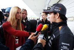 سيرجيو بيريز، فورس إنديا يتحدث مع وسائل الإعلام