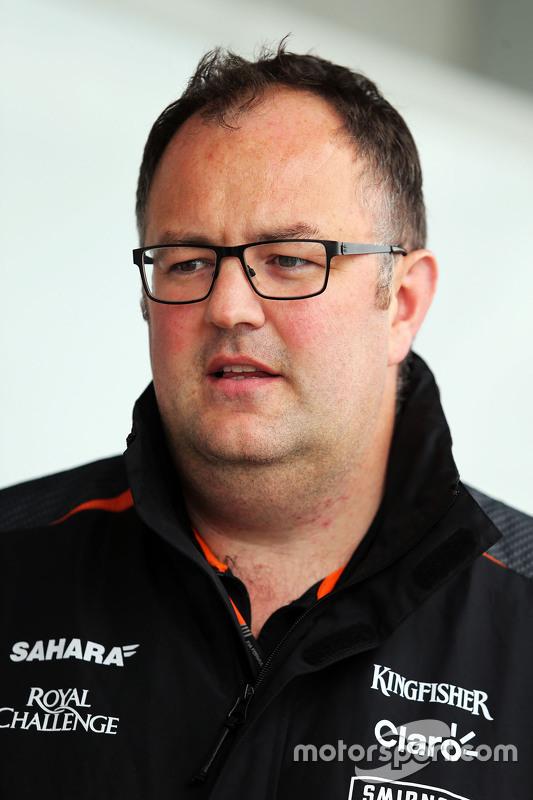 Tom McCullough, Sahara Force India F1 Team engenheiro-chefe
