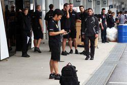 Ayao Komatsu, Lotus F1 Team ingeniero de carrera