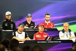 Press conference, Jenson Button, McLaren, Sebastian Vettel, Scuderia Ferrari, Valtteri Bottas, Williams F1 Team, Nico Hulkenberg, Sahara Force India, Max Verstappen, Scuderia Toro Rosso and Will Stevens, Manor F1 Team