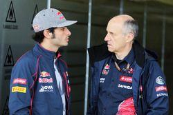 Carlos Sainz Jr., Scuderia Toro Rosso avec Franz Tost, Team Principal