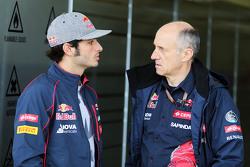 Carlos Sainz Jr., Scuderia Toro Rosso conFranz Tost, Scuderia Toro Rosso Director del equipo