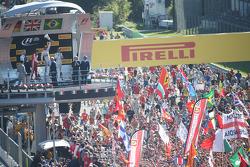 Podium: race winner Lewis Hamilton, Mercedes AMG F1 Team, second place Sebastian Vettel, Ferrari, third place Felipe Massa, Williams