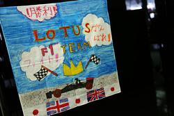 A child's banner для Lotus F1 Team