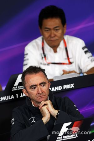 Paddy Lowe, Mercedes AMG F1 Executive Director in the FIA Press Conference