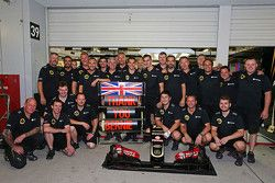 The Lotus F1 Team thank Bernie Ecclestone for funding their team catering