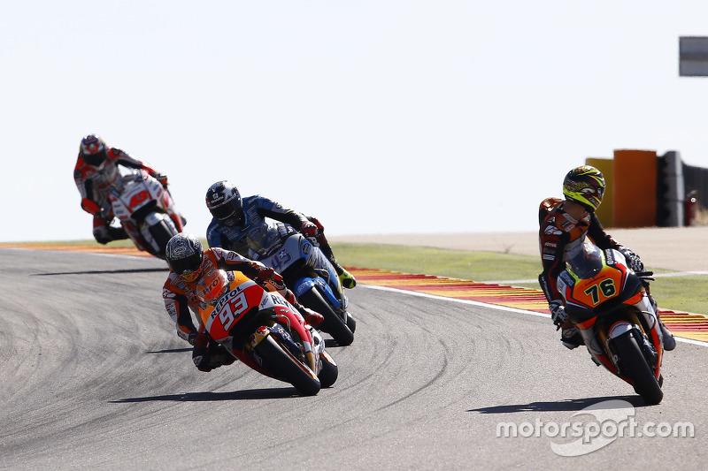 Лоріс Баз, Forward Racing Yamaha та Марк Маркес, Repsol Honda Team та Скотт Реддінг, Marc VDS Racing Honda та Джек Міллер, Team LCR Honda