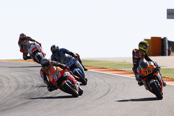 Loris Baz, Forward Racing Yamaha and Marc Marquez, Repsol Honda Team and Scott Redding, Marc VDS Racing Honda and Jack Miller, Team LCR Honda