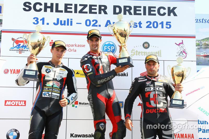 Podium: 1. Xavier Fores, 2. Markus Reiterberger, 3. Lorenzo Lanzi