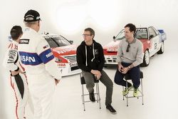 Michael Caruso and Jim Richards, Nissan Motorsports film a video spot