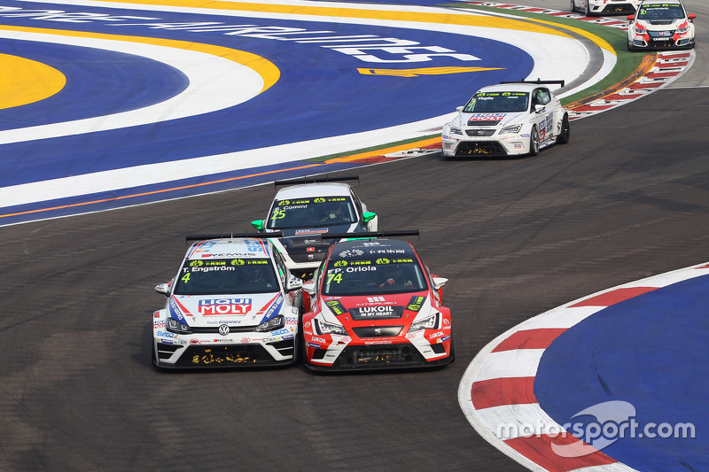 Tomas Engstrom, Volkswagen Golf TCR, Liqui Moly Team Engstler and Pepe Oriola, SEAT Leon, Team Craft