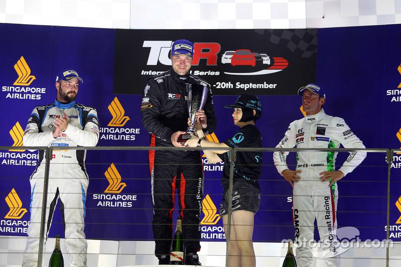 Race 1 Podium: 1st position Kevin Gleason, Honda Civic TCR, West Coast Racing 2nd position Stefano C