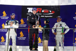 Race 1 Podium: 1st position Kevin Gleason, Honda Civic TCR, West Coast Racing 2nd position Stefano C