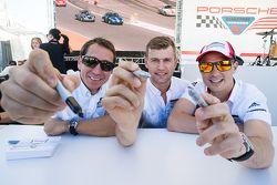Wolf Henzler, Michael Christensen, Earl Bamber, Porsche Team