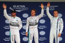 Pole: Nico Rosberg, Mercedes AMG F1 Team, segundoLewis Hamilton, Mercedes AMG F1 Team, terceiro Valtteri Bottas, Williams