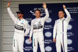 Ganador de la pole: Nico Rosberg, de Mercedes AMG F1 Team, el segundo lugar de Lewis Hamilton, de Me