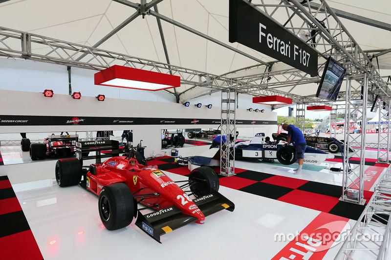 A Ferrari F187 on display